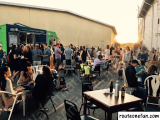 Outdoor scene at Community Forklift's First Friday