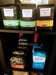 The Board and Brew's selection of coffee