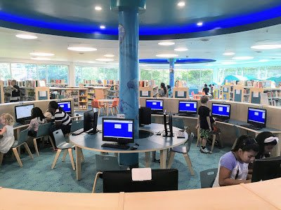 Computers at the New Carrollton library