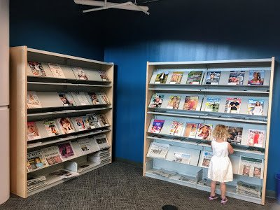 The Magazine Room at the New Carrollton Library