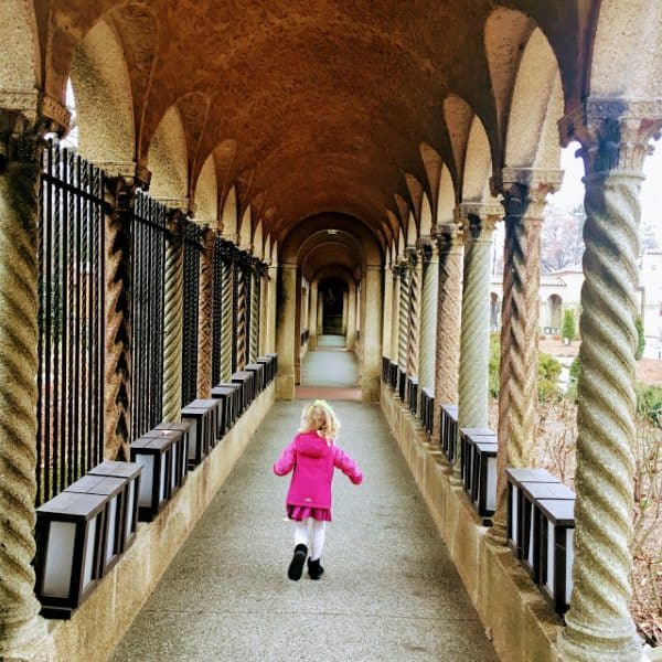 Running through tunnels at the Franciscan Monastery