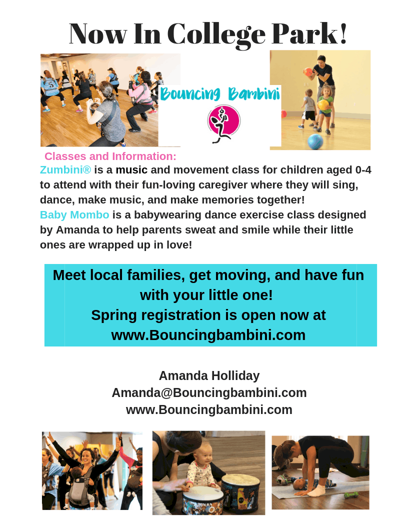 Bouncing Bambini Spring Sessions starting soon!