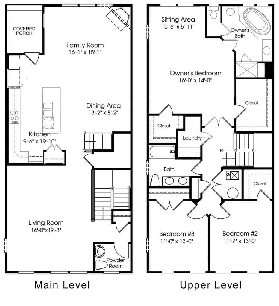 Floorplan 3310 Tribute Court, Unit F, Editors Park Hyattsville