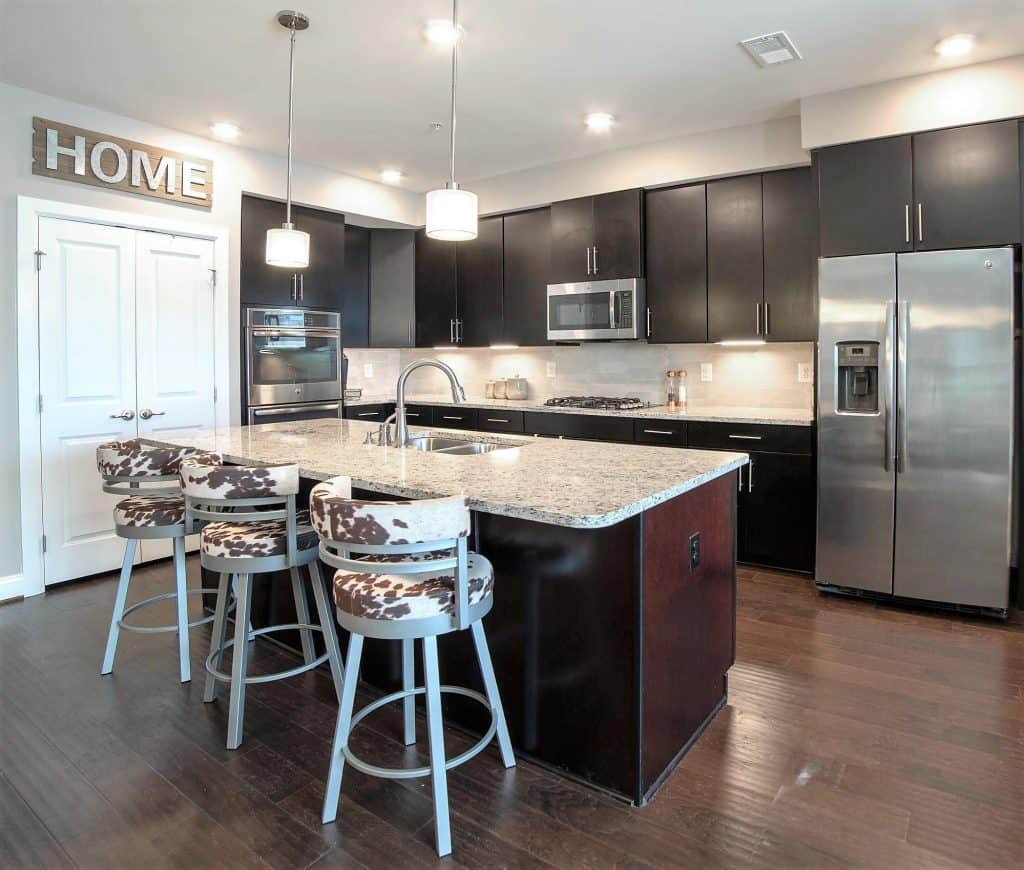Lovely kitchen with island atat 3310 Tribute Court, Unit F, Editors Park, Hyattsville
