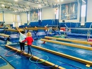 Balance Beam at Preschooler Open Gym at Fairland