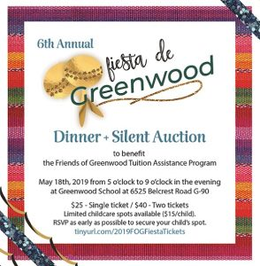 Greenwood Silent Auction is happening May 18th!