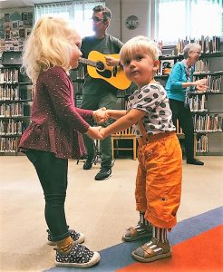 Having fun at Circle Time, Takoma Park Library