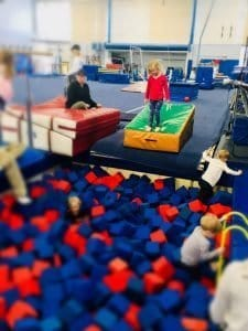 Foam Pit at Preschooler Open Gym at Fairland Sports and Aquatic Center