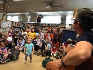 Circle time with Mr. Gabe at Takoma Park Library