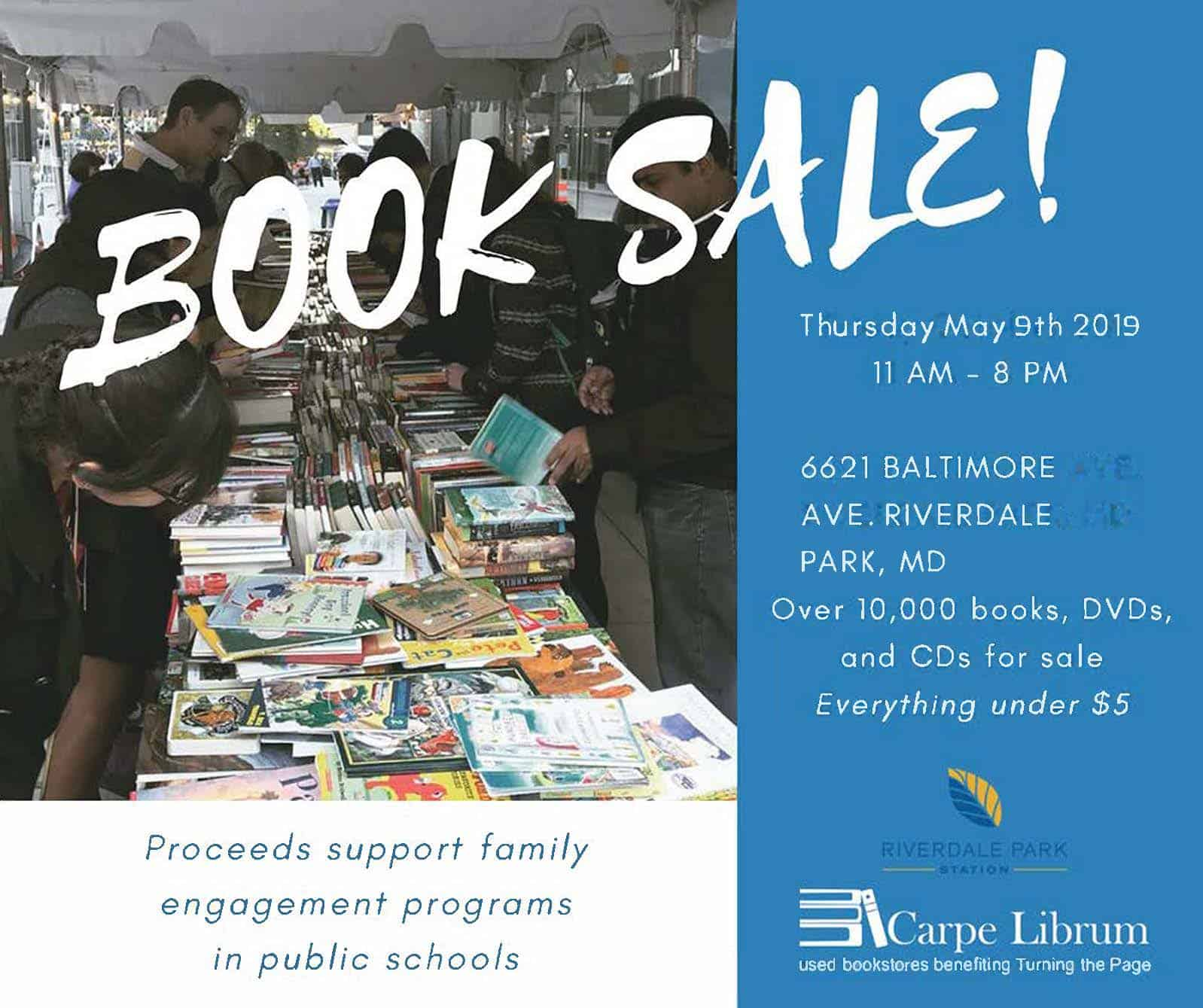 Turning the Page Book Sale at Riverdale Park Station