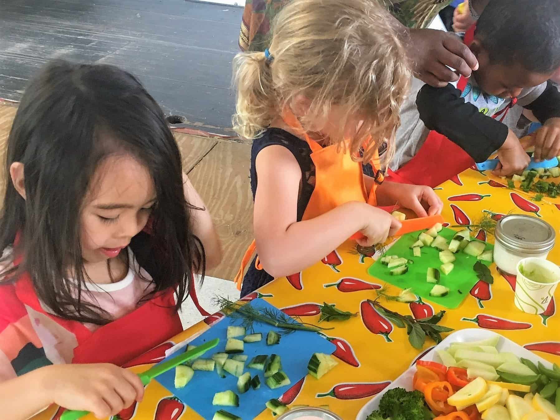 Kids Cooking Class at Eco City Farm, Edmonston