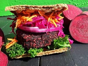 Swizz Beets Burger Gangster Vegan Organic