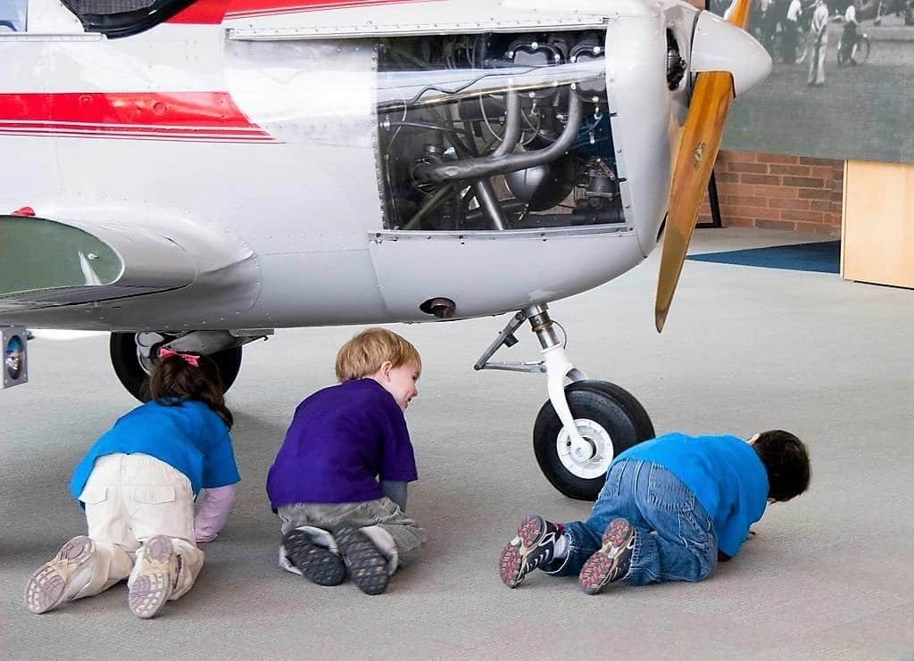 College Park Aviation Museum Kids Playing