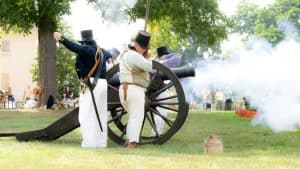 Scenes from Battle of Bladensburg at Riversdale