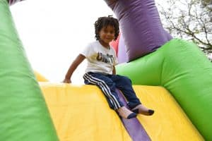 Bounce House fun at College Park Day!