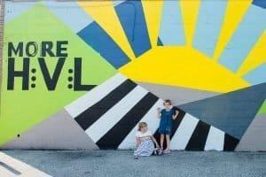Hyattsville Mural behind Green Owl Design