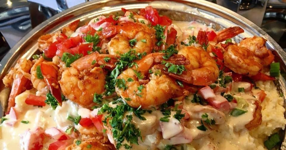 A Place To Walk To serving shrimp and grits!