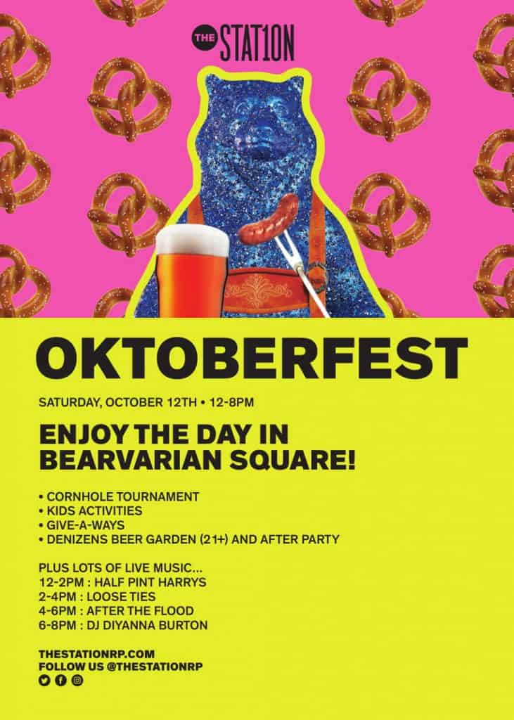 Schedule of events for Oktoberfest at The Station