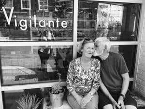 Outside Vigilante Coffee in Hyattsville