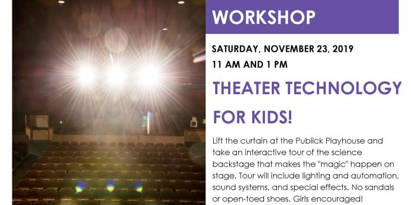 FREE Kids Theatre Tech Workshop at Publick Playhouse