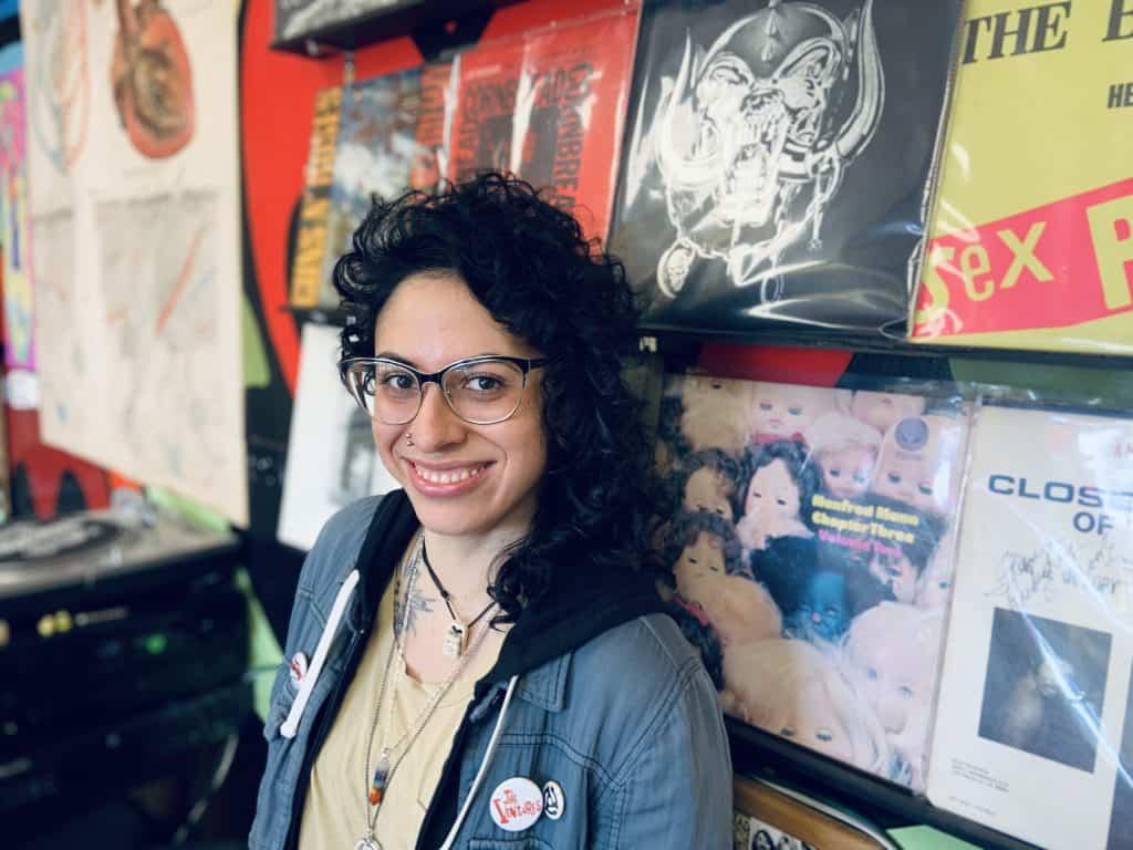 Claudia, owner of Sonidos Music Shop