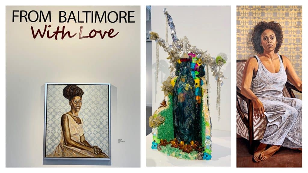 Images of works of art at the Brentwood Arts Exchange