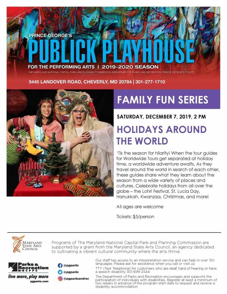 Children can enjoy Holidays Around the World at the Publick Playhouse!