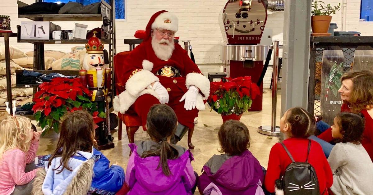 Santa visits Vigilante Coffee this Sunday!