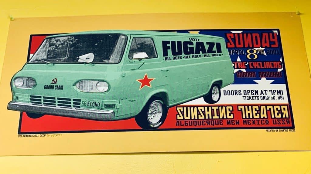 Fugazi Poster at Beltsville Record Store