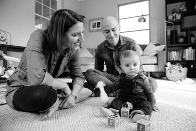 Photo of family fun at home; Erika Nizborsky Photography
