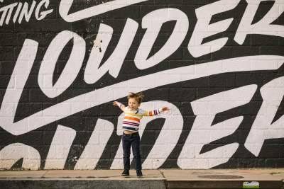 Photo taken by mural