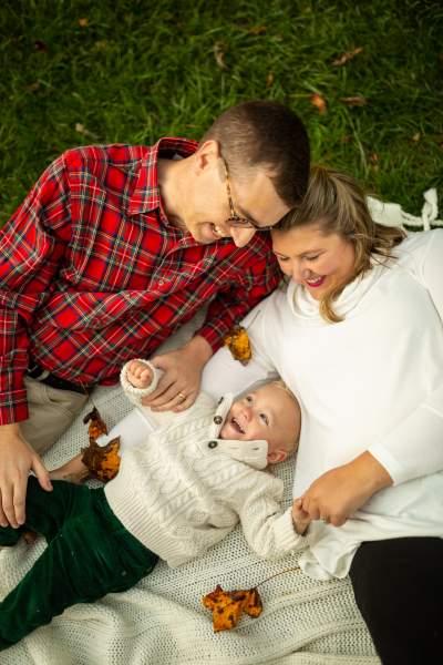 Photo of family of three taken by Hyattsville's Erika Nizborski