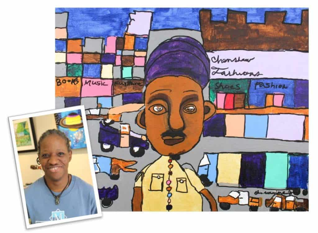 Opening reception at Art Enables for work by resident artists including Charmaine Jones