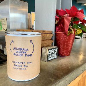 Australia Bushfires Fundraiser at Vigilante Coffee