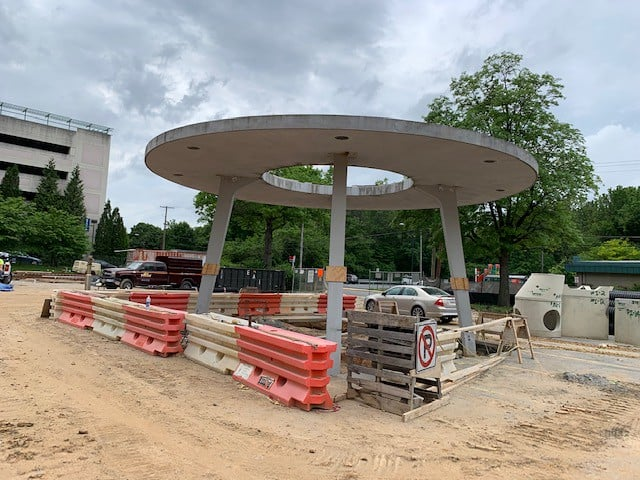 Flying Saucer Hyattsville Library still in one piece!
