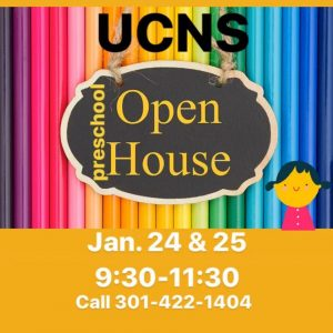 UCNS Nursery School Open House