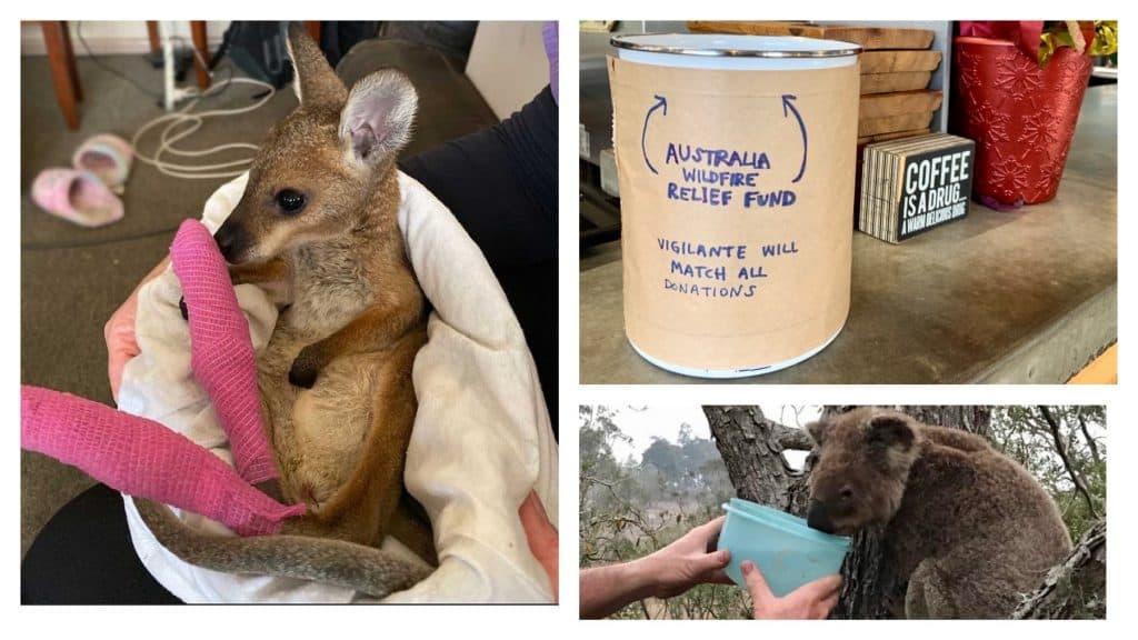 Australia Relief Fundraiser at Vigilante Coffee