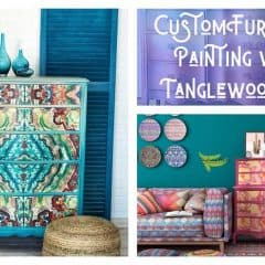 Custom Furniture Painting by Tanglewood Sue
