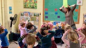 Kids having fun at UCNS preschool in College Park