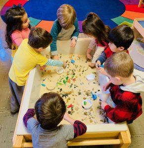 Preschoolers love sensory tables!