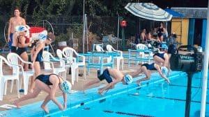 Adelphi Dolphins at Swim Meet