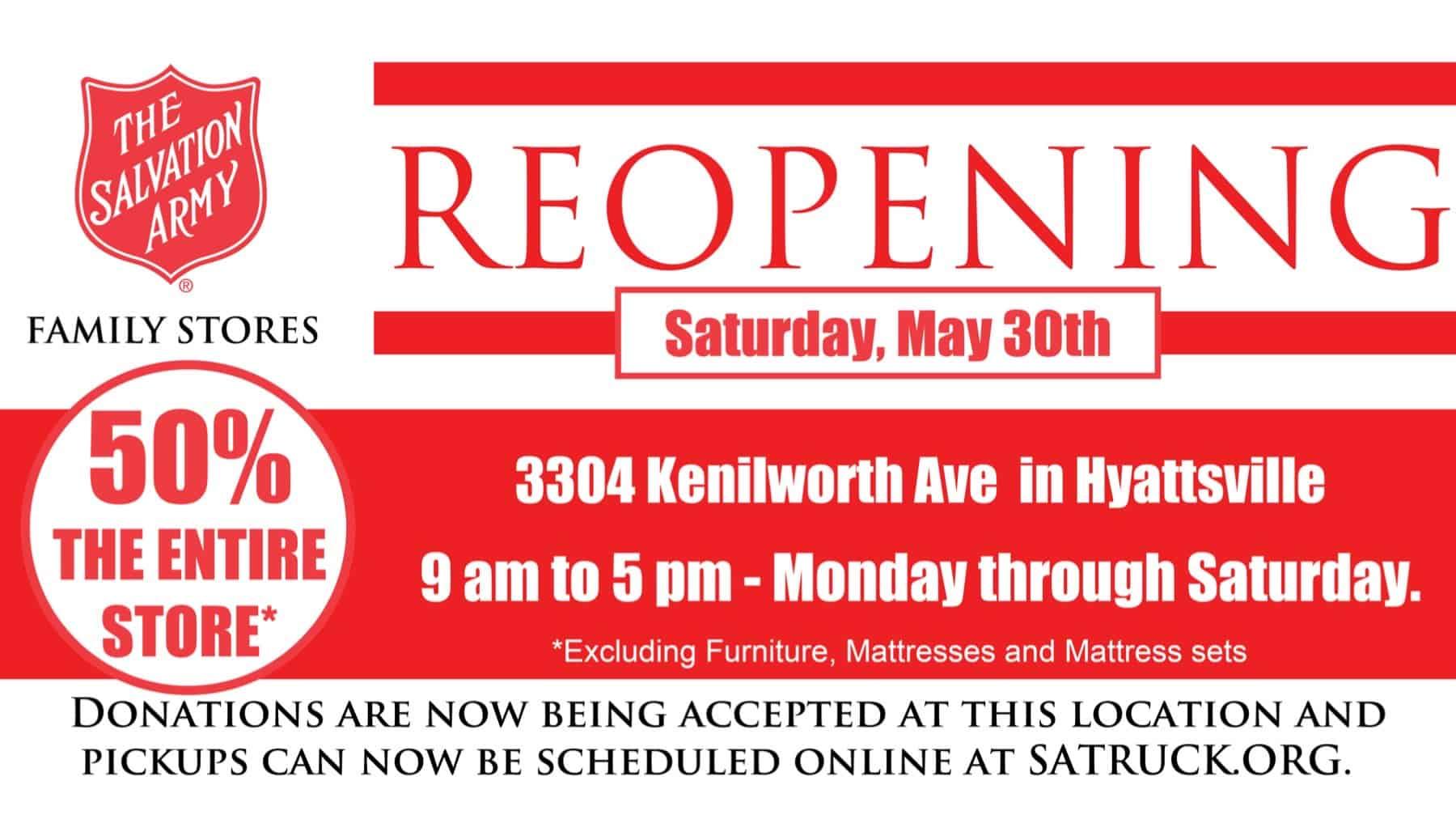 Salvation Army Reopening in Hyattsville