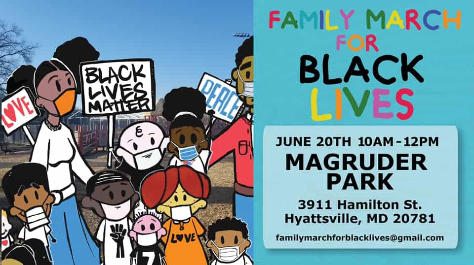 Family March for Black Lives at Magruder Park, Hyattsville
