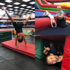 Gymkana kids doing gymnastics