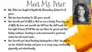 Hyattsville Elementary School Teacher Ms. Peter